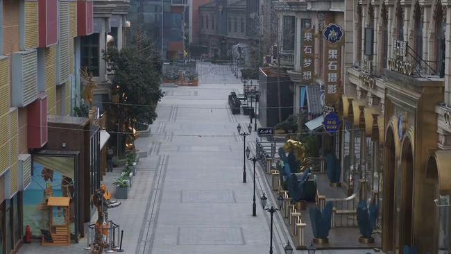 Shops are shut, everyone is indoors. Picture: Credit: ChinaFile via Storyful
