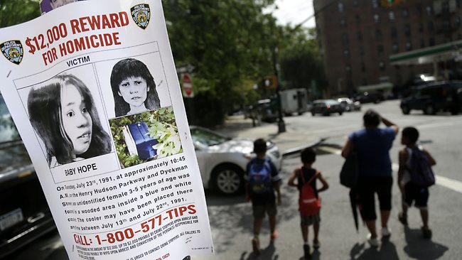 Police continued to distribute posters calling for information into 'Baby Hope's' murder.