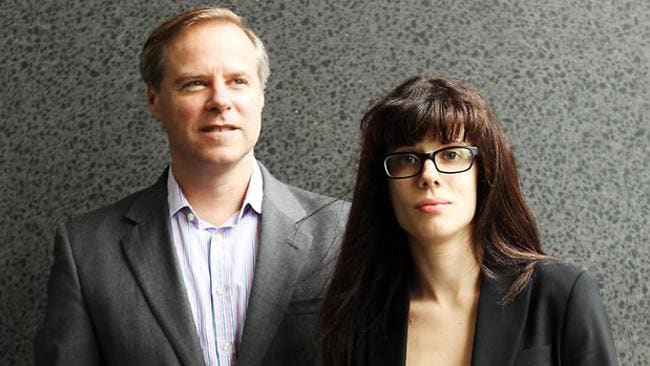 Senior Twitter executives Colin Crowell and Del Harvey (L-R) held a meeting with Talitha Stone this morning in which they apologised about the abuse she experienced.