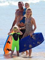 Naomi Watts and her family spotted on December 17, 2013 at Bondi Beach in Sydney. Picture: Splash