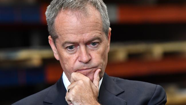 Bill Shorten during an election campaign visit to Burnie, Tasmania, in May. Picture: AAP
