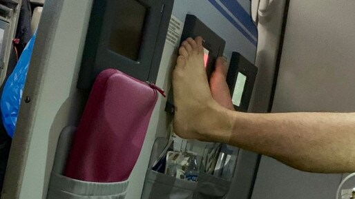 The photo posted by a passenger went viral.