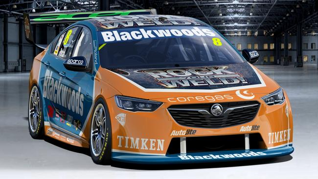 Nick Percat's livery for the opening round of the Supercars season, the Adelaide 500.