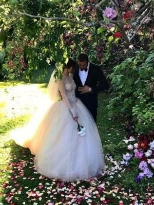 The couple wed on November 6, 2016. Photo: Supplied