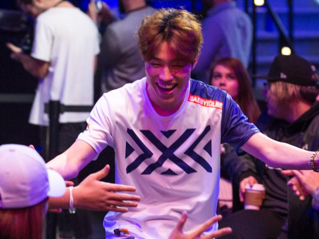 Jong-yeol 'Saebyeolbe' Park takes the stage for the New York Excelsior. Photo: Robert Paul for Blizzard Entertainment