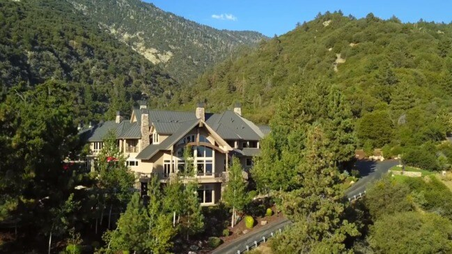 Lotto winner's epic mountaintop mansion