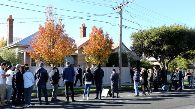 Young buyers are keen on properties close to train stations. Picture: Mike Dugdale