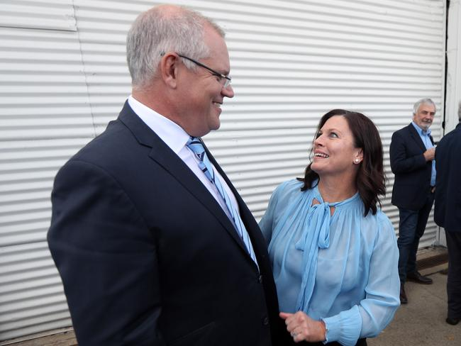 The PM with his wife Jenny in Launceston, Tasmania. Picture: Gary Ramage