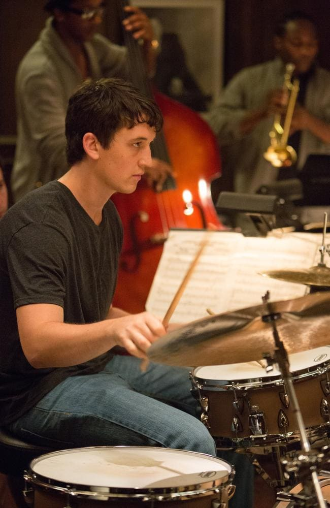 Mentored by Fletcher who will stop nothing to realise a student's potential ... Miles Teller as Andrew in the movie Whiplash. Picture: Sony Pictures Classics / Daniel McFadden