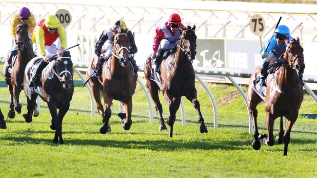 Scales Of Justice thumps his rivals in the Railway Stakes last November. Picture: Sean Middleton