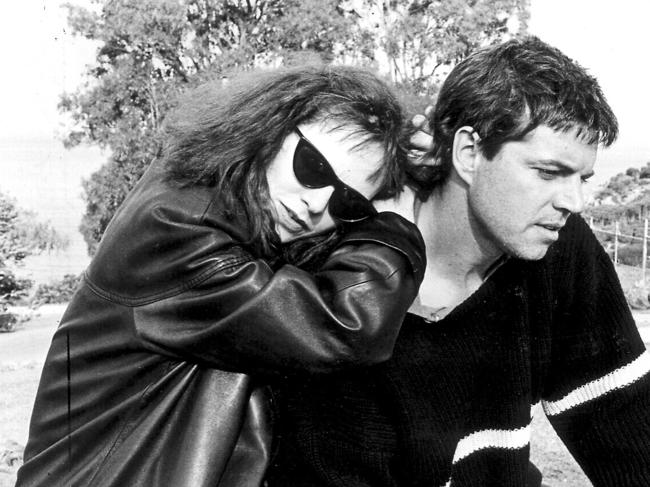 Australia's 'acting royalty' star couple Judy Davis and Colin Friels in a scene from the 1987 film, High Tide.