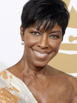 Overlooked ... Natalie Cole, the daughter of jazz legend Nat 'King' Cole who carried on his musical legacy, passed away in December yet won't be included in the Grammys video tribute. Picture: AP Photo/Matt Sayles