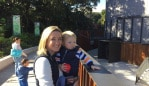 "Me and the little guy at the zoo. One of my ""off duty"" days."