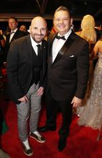 MasterChef Australia judges George Calombaris and Gary Mehigan arrive at the 2018 Logie Awards at The Star Casino on the Gold Coast, Sunday, July 1, 2018. Picture: AAP Image/Regi Varghese