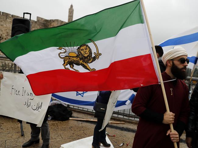Israelis from Iranian descent protest in Jerusalem. Picture: AFP