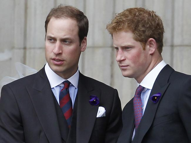 Prince William and Prince Harry in 2012 – the pre-Meghan era. Picture: AFP