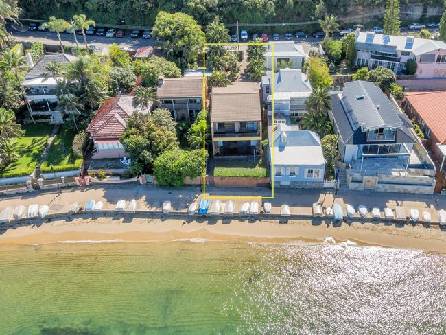 Mr Barbuto's new blue weatherboard character compound at 22 Marine Pde is right next door to the one that well-known Watsons Bay local Billy Dunn sold for $7.45 million in 2016. Meanwhile, Sam Ballas's house at No. 21 has been completely opened up and redone.
