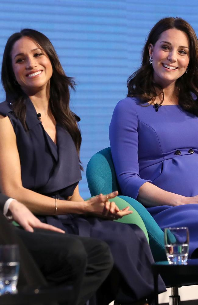 Meghan Markle and Kate in London. Picture: AFP/Chris Jackson