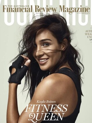 Fitness queen Kayla Itsines was ranked fifth on the list. Picture: AFR Magazine