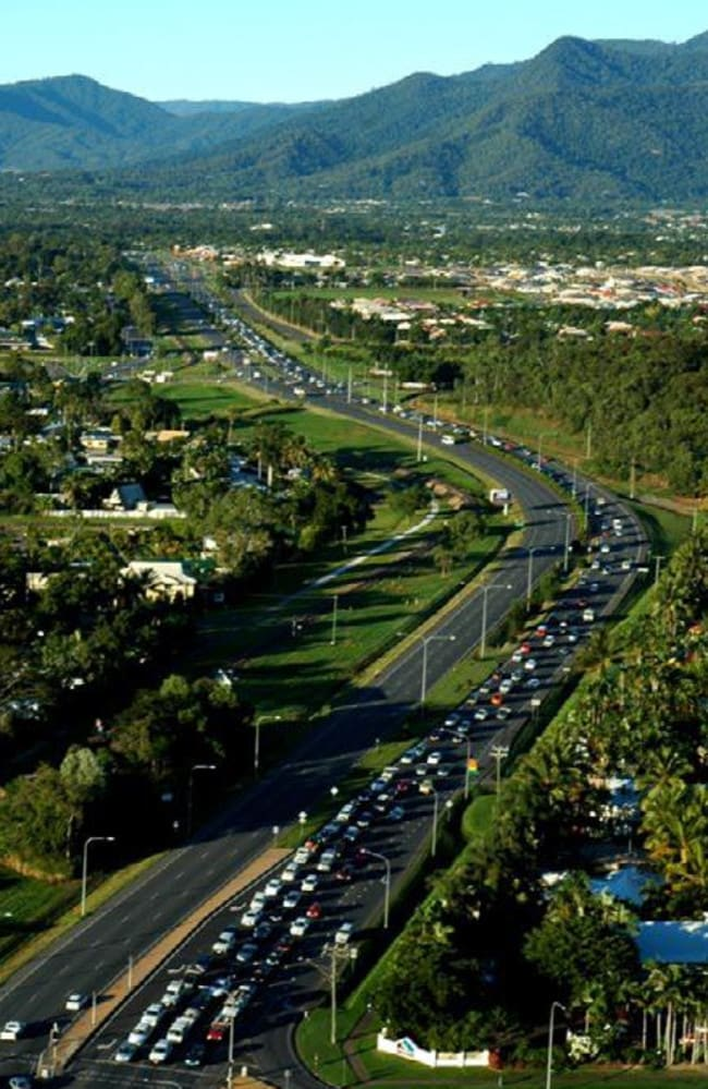 An aerial shot of the Bruce Highway south of Cairns. Picture: Department of Transport and Main Roads.