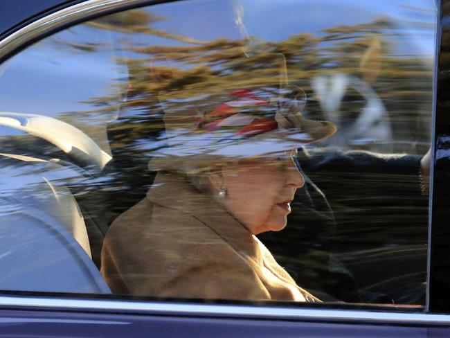 The Queen attended a church service in the UK. Picture: AP