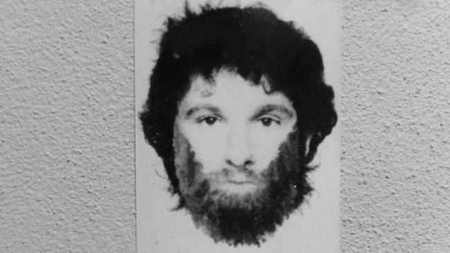 The original identikit image of the suspect released by police in 1993. Picture: Supplied