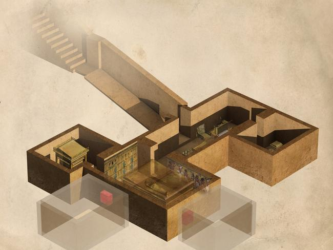 The locations of speculative chambers have been supported by infra-red and radar scans of Tut's tomb.