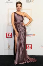 Dannii Minogue arrives on the red carpet at the 59th annual TV Week Logie Awards on April 23, 2017 at the Crown Casino in Melbourne, Australia. Picture: Julie Kiriacoudis