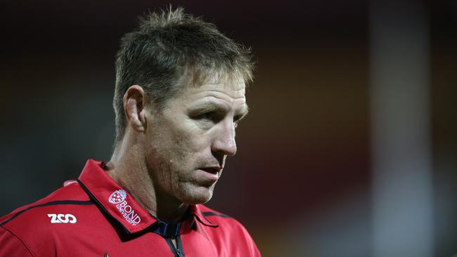 Reds coach Brad Thorn unloaded on his side.
