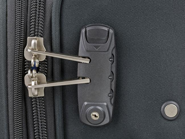 TSA locks allow US security agents to inspect bags without damaging them.