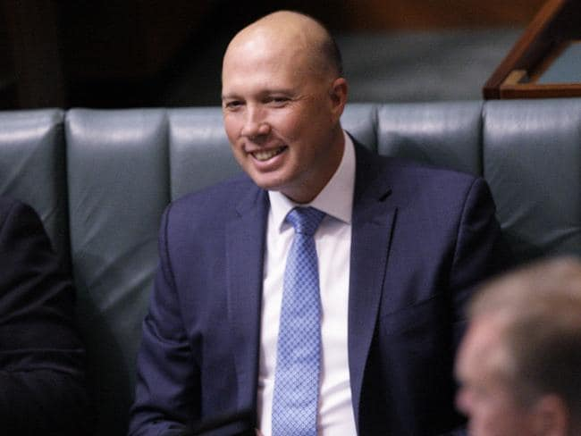 In rolling the dice and challenging Malcolm Turnbull, Peter Dutton has lost his prized home affairs portfolio. Picture: AP