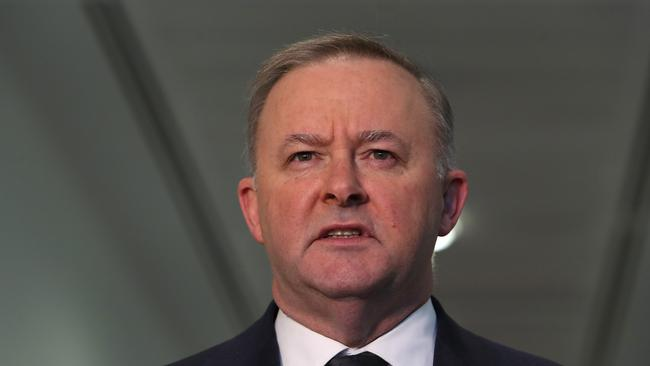 Opposition Leader Anthony Albanese has anounced his new frontbech. Picture: Kym Smith