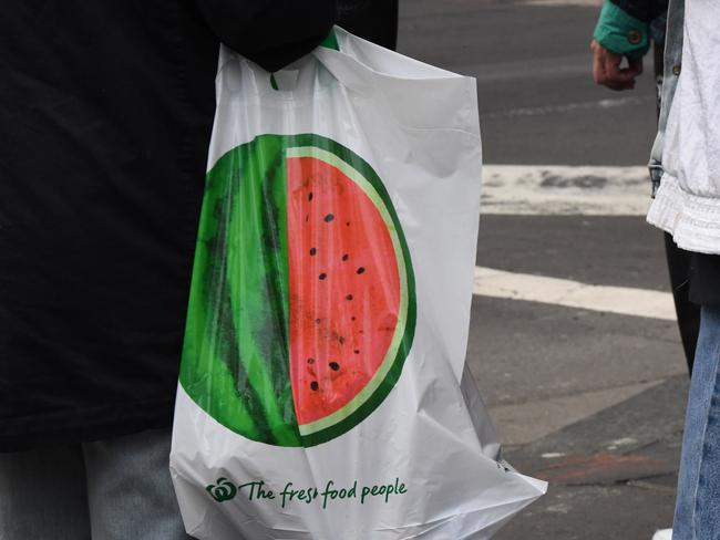 These are the 15c plastic bags shoppers can now pay for. Picture: Peter Rae/AAP