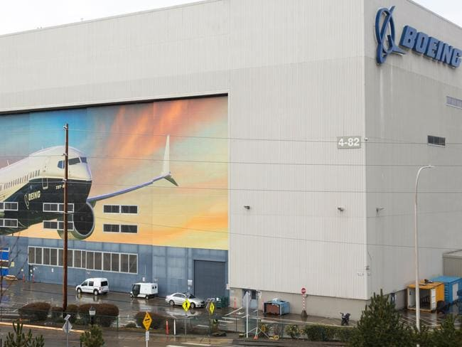 A Boeing 737 MAX 8 is pictured on the exterior of the Boeing Renton factory Washington. A fix to the anti-stall system suspected in two fatal crashes has been approved. Picture: AFP