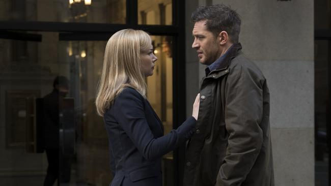 Michelle Williams and Tom Hardy in Venom.