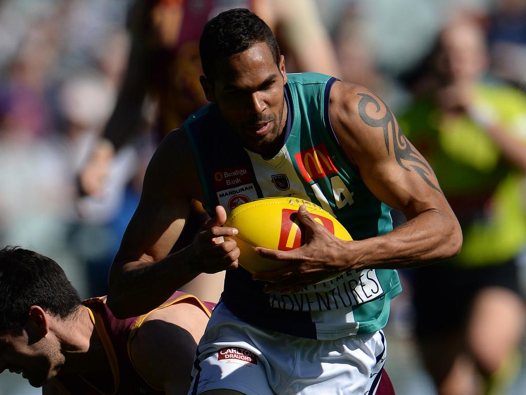 Shane Yarran playing for Peel Thunder. Picture: Daniel Wilkins