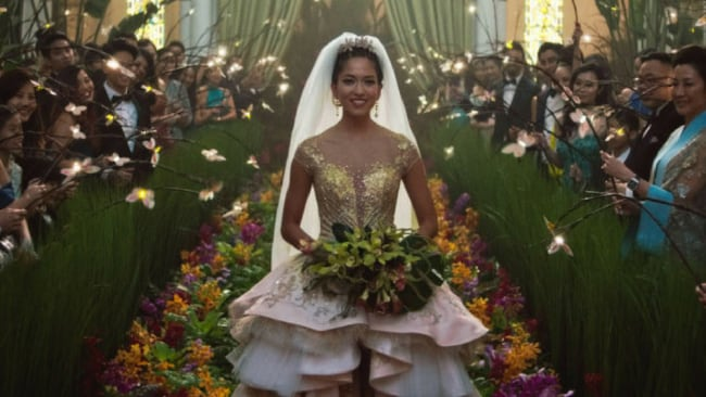 The insane wedding dress. Photo: Warner Bros