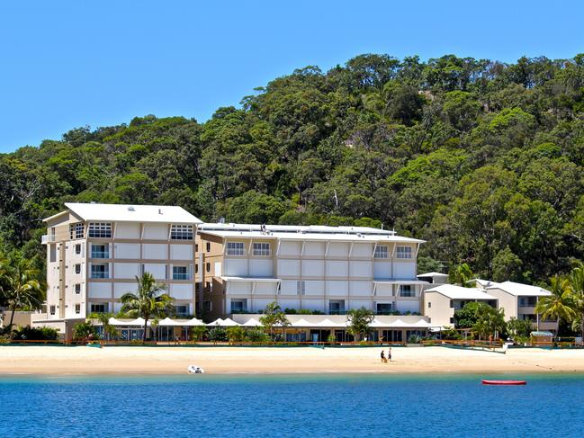 Some of the accommodation at Tangalooma Island Resort.