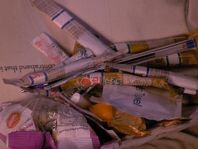 Contestants have smuggled a variety of contraband into the I'm A Celebrity jungle camp. Picture: Channel Ten