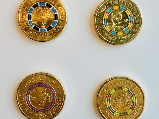 The four coins will be released over four weeks. Picture: Woolworths