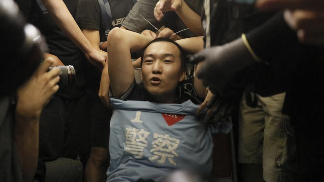 Fu Guohao was turned into an overnight sensation in mainland China after demonstrators surrounded and assaulted him during an airport protest.