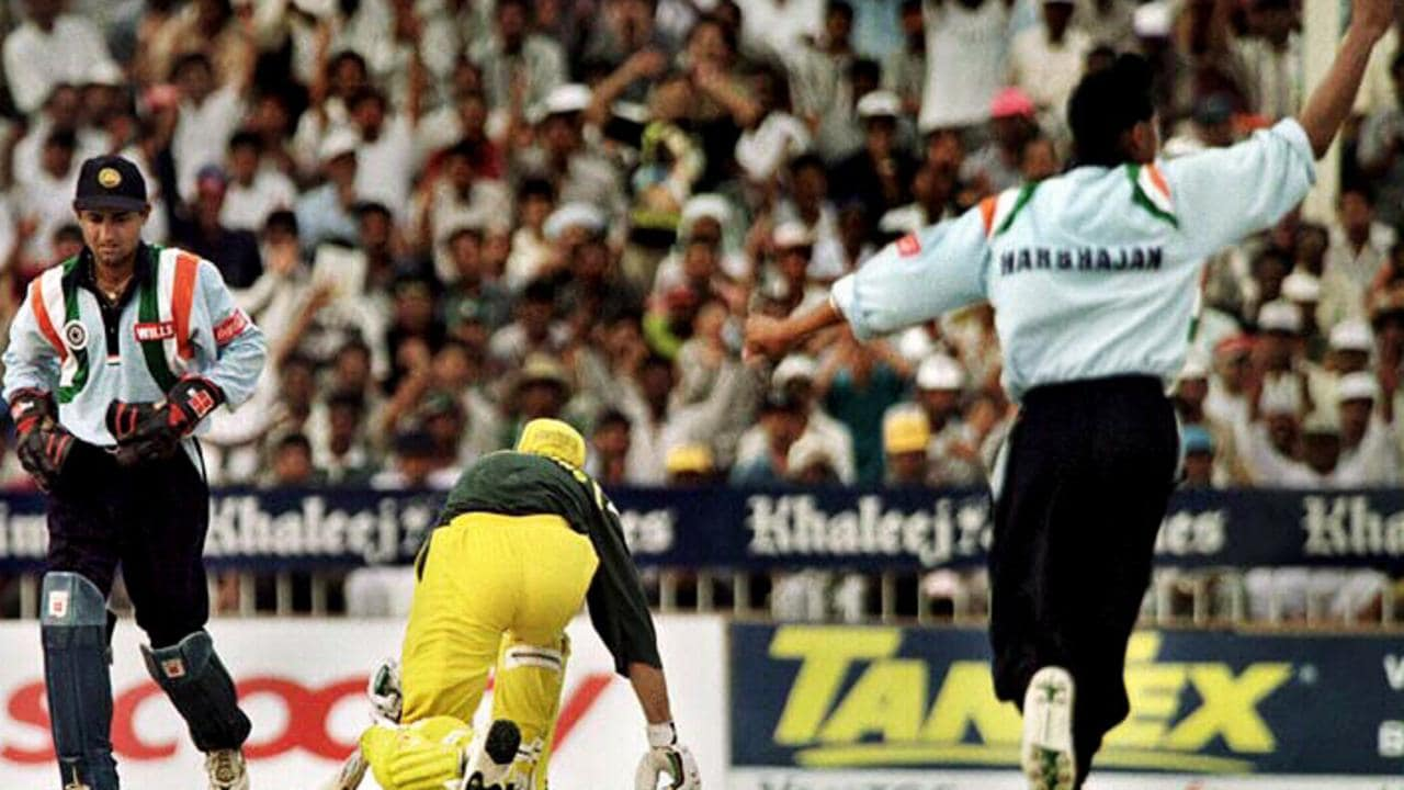 Ricky Ponting fell stumped to a young Harbhajan Singh in 1998.