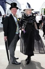 John and Deborah Quinn at the 2016 Melbourne Cup held at the Flemington Racecourse in Melbourne. Picture: Christian Gilles