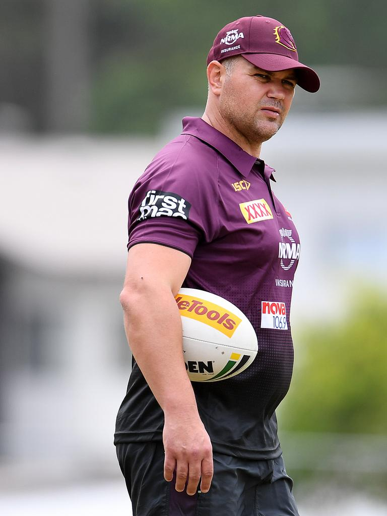 Under-fire Brisbane coach Anthony Seibold, who replaced Wayne Bennett at the Broncos. Picture: AAP Image/Dan Peled