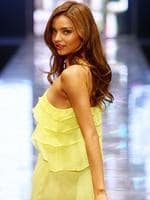 Model and David Jones fashion ambassador Miranda Kerr, in a Zimmerman creation at the David Jones Summer 2008 collection at the Royal Hall of Industries at Moore Park, Sydney.
