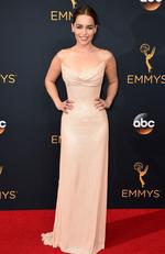Emilia Clarke attends the 68th Annual Primetime Emmy Awards on September 18, 2016 in Los Angeles, California. Picture: AP