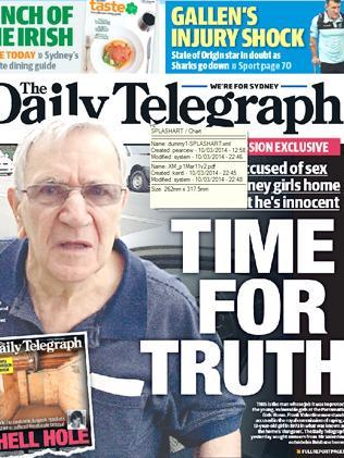 The Daily Telegraph front page.