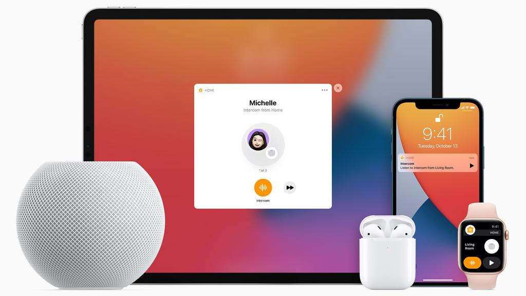 Apple's HomePod Mini can interact with other Apple devices. Picture: Supplied
