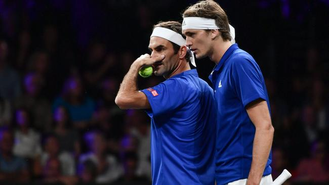 Roger Federer and Alexander Zverev proved quite a team.