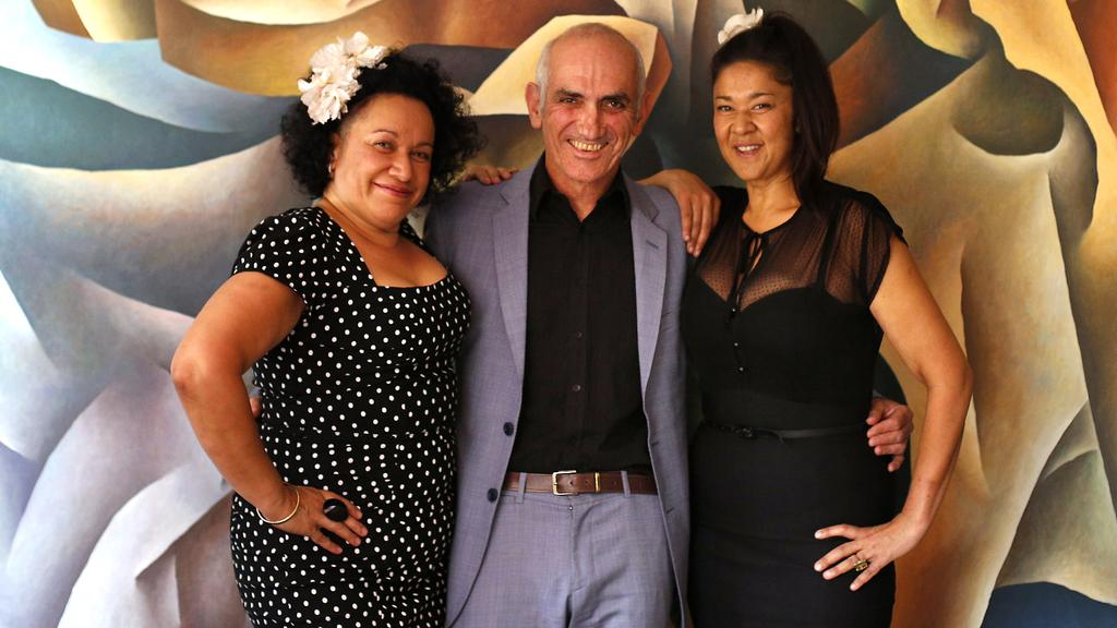 "Paul Kelly, centre, and the Bull sisters have been ""family"" for three decades. Picture: News Corp Australia"